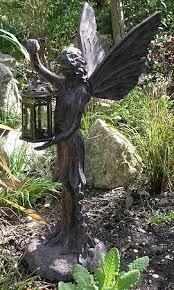 fairy garden statues. Fairy With Lantern Garden Statue Statues