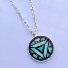 home kids accessories jewellery iron man glow in the dark arc reactor pendant necklace