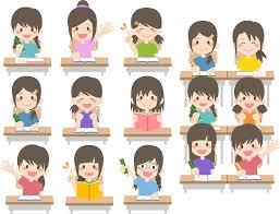 フリーイラスト 授業中の女子生徒たちでアハ体験 Gahag 著作権