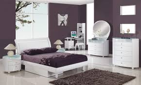 Plum Bedroom Solid Wood Bed Frame Queen Purple Color Bedroom Designs Crystal