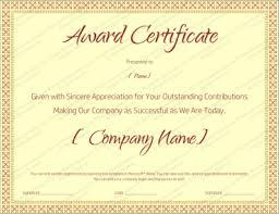 Award Certificate Templates Editable Printable In Word