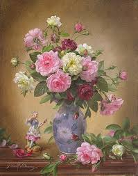 ab292 romantic roses of yesteryear print by albert williams