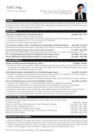 Resume Template Singapore Resume Resume Template Singapore Download