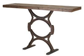 iron console table. Industrial Wood \u0026 Iron Console Table, 60\ Table