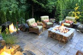 patio outdoor patio with fire pit and ideas best pits cozy gas palm springs stone