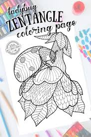 Download more than 170 tangled coloring pages! Zentangle Ladybug Pattern Printable Coloring Page
