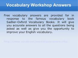 Vocab Answers Level D Vocabulary Workshop Level F Unit 5 Research Paper Example