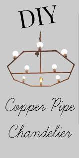 diy a copper chandeiler