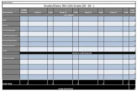 4 Year Plan Template 4 Year High School Plan Free Spreadsheet Printable