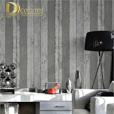 Modern Wallpaper For Bedrooms Simple Grey Wood Stripes Wall Paper Rolls For Walls 3d Modern