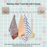 Bath towel hook Small Bathroom Ymiko Stainless Steel Bath Towel Bar Washcloth Holder With Hooks Bathroom Washroom Toolbathroom Walmart Bath Towel Hooks