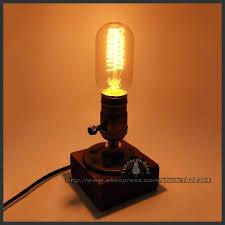 edison bulb table lamp retro coffee table lamp wood vintage desk lamp bulb bedroom bar edison bulb table lamp