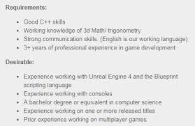 Professional Resume Critique Resume Critique Entry Level Gameplay Programmer