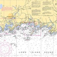 Connecticut Branford Nautical Chart Decor