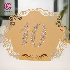 Table Number Design Us 12 99 10pcs Lot Whole Web Unique Customfest Self Design Rhinestone Number With Laser Cut Stand Free Table Number Classic Design Craft In Cards