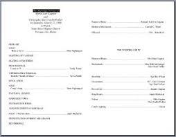 wedding reception program templates free download wedding program templates
