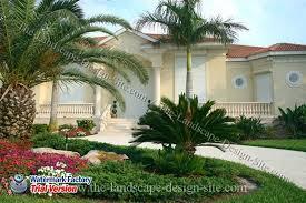 Circular tropical driveway landscape design