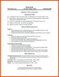 Line Cook Skills Resume 23 Line Cook Resume Free Sample Skills New