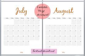 Customizable Calendar 2015 24 Best Editable Calendar Templates 2019 Designs Free