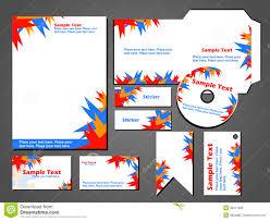 Formart Design Stationary Business Set Design Vector Format Stock Vector