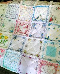 41 best handkerchief butterfly quilt images on Pinterest | Vintage ... & Vintage Style Hanky Handkerchief Rag Quilt IV-using the rest of hankies I  have from Adamdwight.com