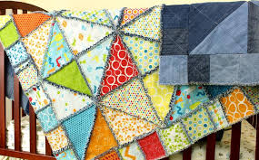 7 Dazzling Denim Quilt Patterns & Half Square Triangle Rag Quilt Adamdwight.com