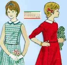 Simonetta Designer Vogue 5661 1960s Simonetta Girls Dress Size 7 Vintage