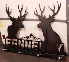 Personalized Family Coat Rack Metal Fabrication 88