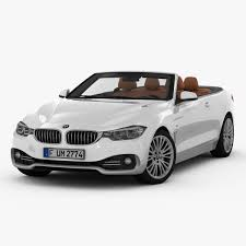 BMW Convertible bmw 4 series convertible white : 2014 BMW 4 Series Convertible F33 3D Model