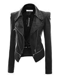 womens leather jackets wo0027s faux leather jacket qvaxlww