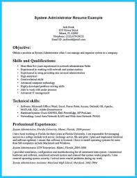 Linux System Administrator Resume Sample For Fresher Entry Network