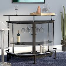 glass chips for fire pits awesome wade logan bethlehem bar with wine storage reviews high