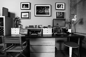 black and white home office. Black And White Office Decor Home Furniture Design Ideas W