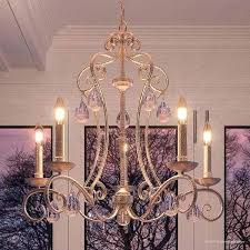 french country chandelier country french white iron chandelier