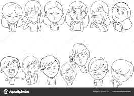 Set Disegni Divertenti Personaggi Dei Cartoni Animati Vettoriali