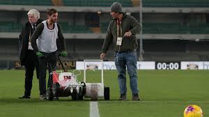 Hellas Verona-Genoa kick-off delayed for lines to be repainted