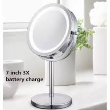 lighted makeup mirror tabletop vanity round doublesided cosmetic mirror 7 inch 3 x lighted make up mirror u64