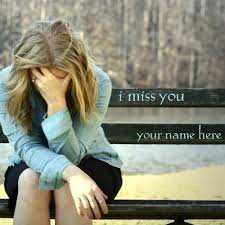 write name on i miss you pictures