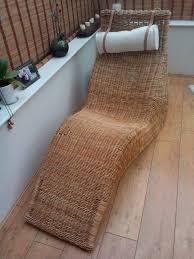 ikea chaise lounge rattan lounger wicker chair