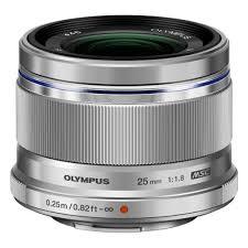 <b>Объектив</b> Olympus <b>M</b>.<b>Zuiko DIGITAL 25mm</b> 1:1.8 / ES-M2518 silver ...