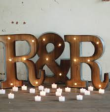 Battery Powered Light Up Letters Light Up Letter T Sign Rustic Industrial Marquee Lighting W