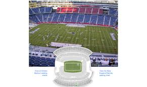 New England Patriots Seating Chart Four Tickets To New England Patriots Game