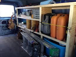 wood storage shelving for cargo vans image 335111171 jpg