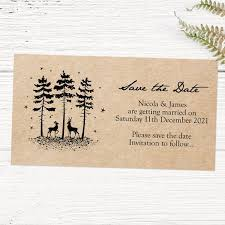 Rustic Winter Woodland Save The Date Magnets