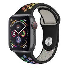 Dây Đeo Cầu Vồng Cho Đồng Hồ Thông Minh Apple Watch 38mm 40mm 42mm 44mm  Iwatch Series Se / 6 / 5 / 4 / 3 / 2 / 1 81010 giá cạnh tranh