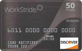 workstride discover prepaid card