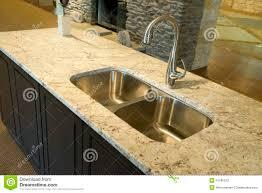 Kitchen Sink Granite Kitchen Sink On Granite Counter Stock Photos Image 11590673