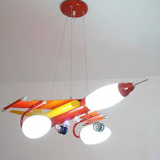 red blue airplane led pendant lamp pl269