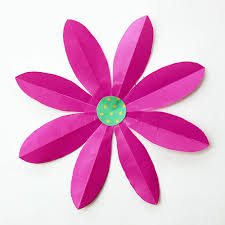 Glace Paper Flower Folding Paper Flowers 8 Petals Kids Crafts Fun Craft