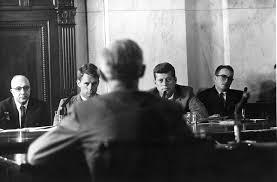 mcclellan committee hearing john f kennedy  mcclellan committee hearing 1957 senator john f kennedy